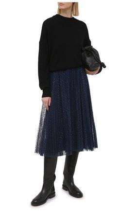Женская плиссированная юбка REDVALENTINO синего цвета, арт. VR3RAC20/5MA   Фото 2