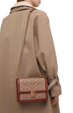 Женская сумка hutton COACH коричневого цвета, арт. 3492   Фото 2