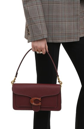 Женская сумка tabby small COACH бордового цвета, арт. 4607   Фото 2