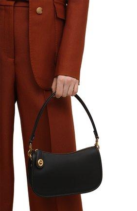 Женская сумка swinger COACH черного цвета, арт. C0638   Фото 2