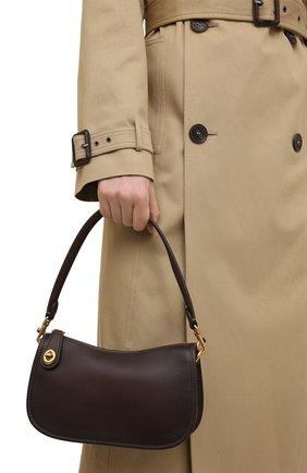 Женская сумка swinger COACH темно-коричневого цвета, арт. C0638   Фото 2