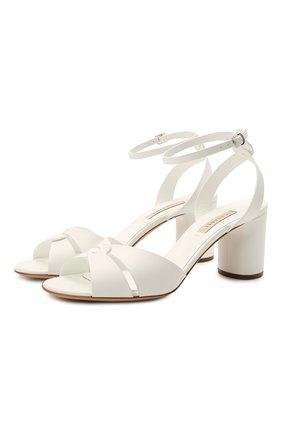 Женские кожаные босоножки CASADEI белого цвета, арт. 1L804S0601FL0RE9999 | Фото 1