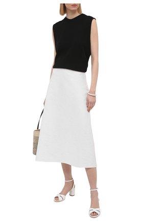 Женские кожаные босоножки CASADEI белого цвета, арт. 1L804S0601FL0RE9999 | Фото 2