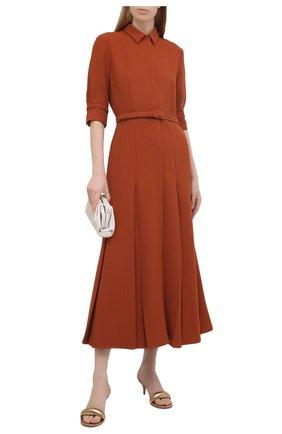 Женские кожаные мюли bijoux 55 GIANVITO ROSSI золотого цвета, арт. G18380.55RIC.NPSMEK0   Фото 2 (Материал внутренний: Натуральная кожа; Подошва: Плоская; Каблук высота: Средний; Каблук тип: Шпилька)