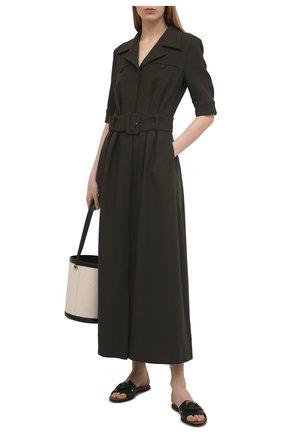 Женские кожаные шлепанцы hana SEE BY CHLOÉ черного цвета, арт. SB33050A/12001 | Фото 2