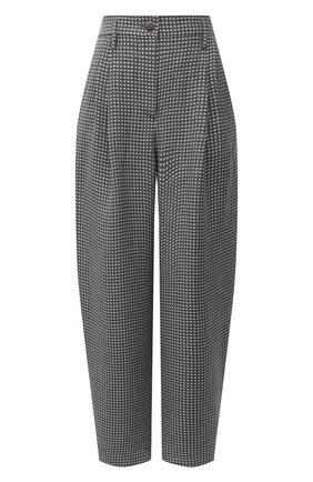 Женские брюки из льна и шелка GIORGIO ARMANI серого цвета, арт. 1SHPP0H1/T029K | Фото 1