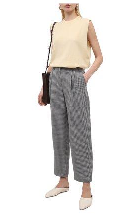 Женские брюки из льна и шелка GIORGIO ARMANI серого цвета, арт. 1SHPP0H1/T029K | Фото 2