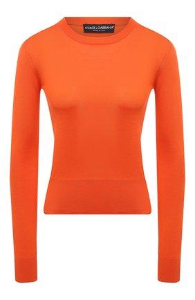 Женский шелковый пуловер DOLCE & GABBANA оранжевого цвета, арт. FXC92T/JAS0P | Фото 1