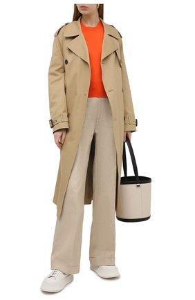 Женский шелковый пуловер DOLCE & GABBANA оранжевого цвета, арт. FXC92T/JAS0P | Фото 2