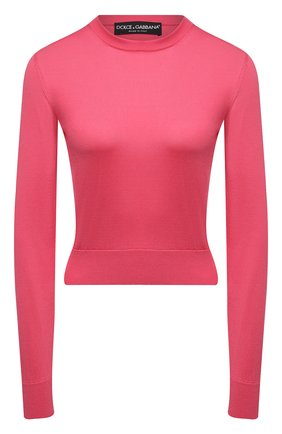 Женский шелковый пуловер DOLCE & GABBANA розового цвета, арт. FX731T/JASJX | Фото 1