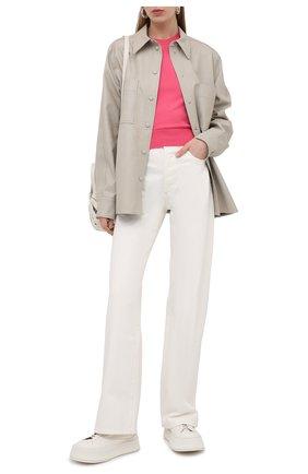 Женский шелковый пуловер DOLCE & GABBANA розового цвета, арт. FX731T/JASJX | Фото 2