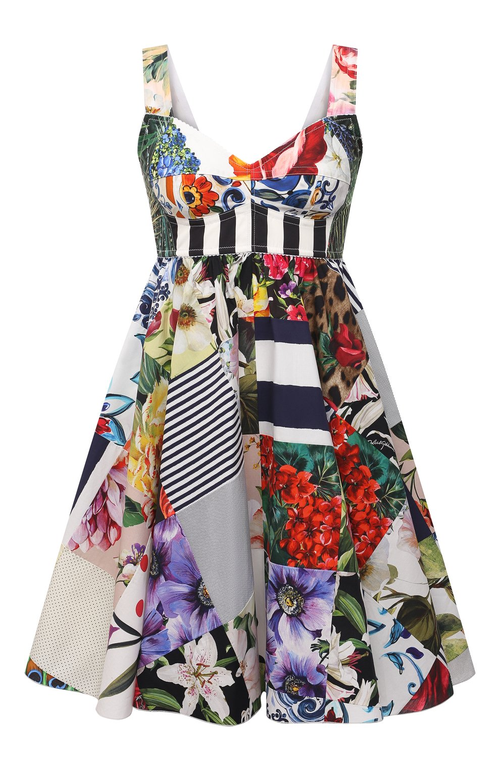 Женское хлопковое платье DOLCE & GABBANA разноцветного цвета, арт. F6P0MT/GDY45 | Фото 1
