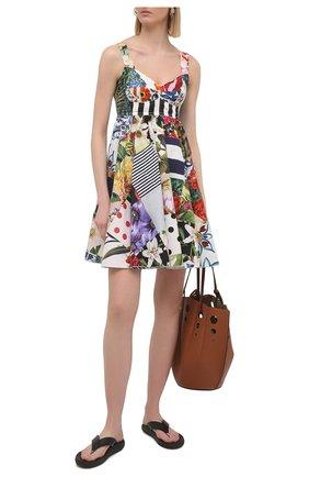 Женское хлопковое платье DOLCE & GABBANA разноцветного цвета, арт. F6P0MT/GDY45 | Фото 2