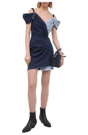 Женское джинсовое платье DOLCE & GABBANA синего цвета, арт. F6N0ND/G900Q | Фото 2