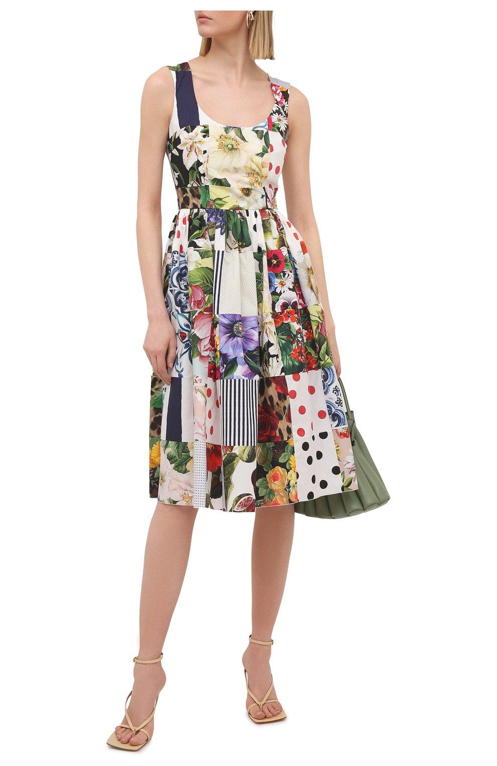 Женское хлопковое платье DOLCE & GABBANA разноцветного цвета, арт. F6N0BT/GDY45 | Фото 2