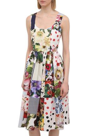Женское хлопковое платье DOLCE & GABBANA разноцветного цвета, арт. F6N0BT/GDY45 | Фото 3