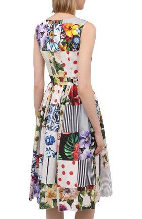Женское хлопковое платье DOLCE & GABBANA разноцветного цвета, арт. F6N0BT/GDY45 | Фото 4
