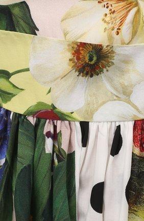 Женское хлопковое платье DOLCE & GABBANA разноцветного цвета, арт. F6N0BT/GDY45 | Фото 5