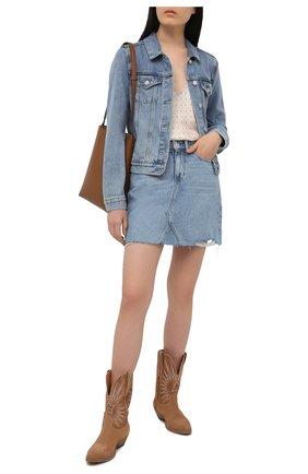 Женская джинсовая юбка PAIGE голубого цвета, арт. 6896I07-4693 | Фото 2