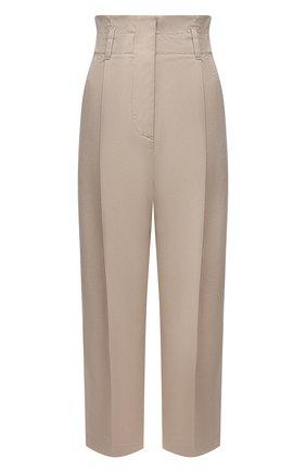Женские хлопковые брюки TELA бежевого цвета, арт. 01 0157 14 8013 | Фото 1