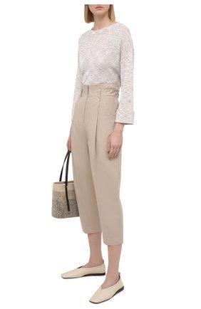 Женские хлопковые брюки TELA бежевого цвета, арт. 01 0157 14 8013 | Фото 2