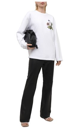 Женский хлопковый свитшот OFF-WHITE белого цвета, арт. 0WBA062S21JER003 | Фото 2