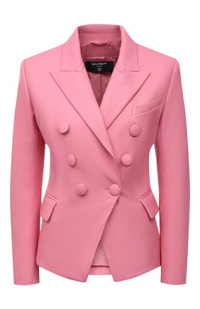 Женский кожаный жакет BALMAIN розового цвета, арт. VF17110/L062 | Фото 1