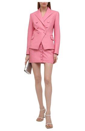 Женский кожаный жакет BALMAIN розового цвета, арт. VF17110/L062 | Фото 2