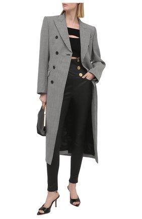 Женские кожаные брюки BALMAIN черного цвета, арт. VF15887/L067 | Фото 2
