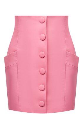 Женская кожаная юбка BALMAIN розового цвета, арт. VF14086/L062 | Фото 1
