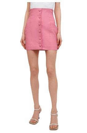 Женская кожаная юбка BALMAIN розового цвета, арт. VF14086/L062 | Фото 3