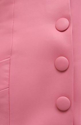Женская кожаная юбка BALMAIN розового цвета, арт. VF14086/L062 | Фото 5