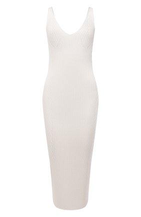 Женское платье из вискозы BALMAIN кремвого цвета, арт. VF0RH010/K252 | Фото 1