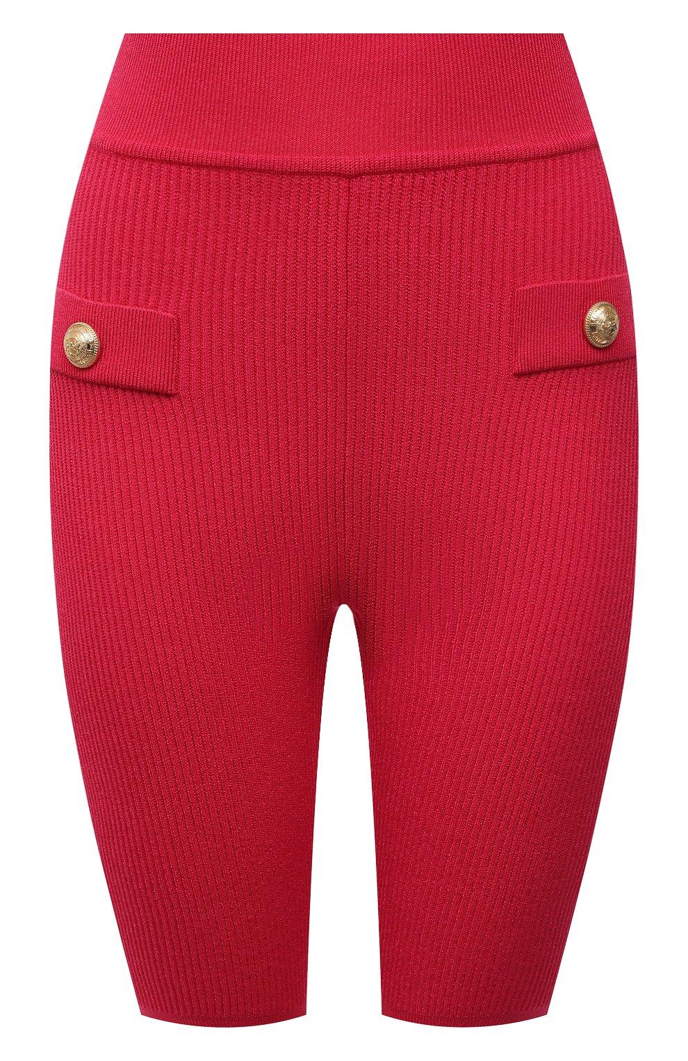 Женские шорты из вискозы BALMAIN фуксия цвета, арт. VF0PB015/K211   Фото 1