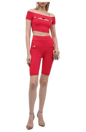 Женские шорты из вискозы BALMAIN фуксия цвета, арт. VF0PB015/K211   Фото 2