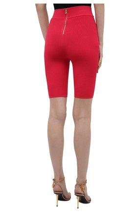 Женские шорты из вискозы BALMAIN фуксия цвета, арт. VF0PB015/K211   Фото 4