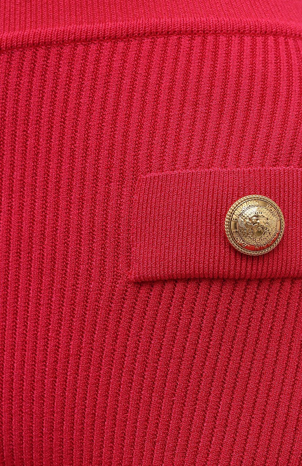 Женские шорты из вискозы BALMAIN фуксия цвета, арт. VF0PB015/K211   Фото 5