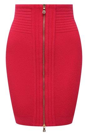 Женская юбка из вискозы BALMAIN фуксия цвета, арт. VF0LB010/K211   Фото 1