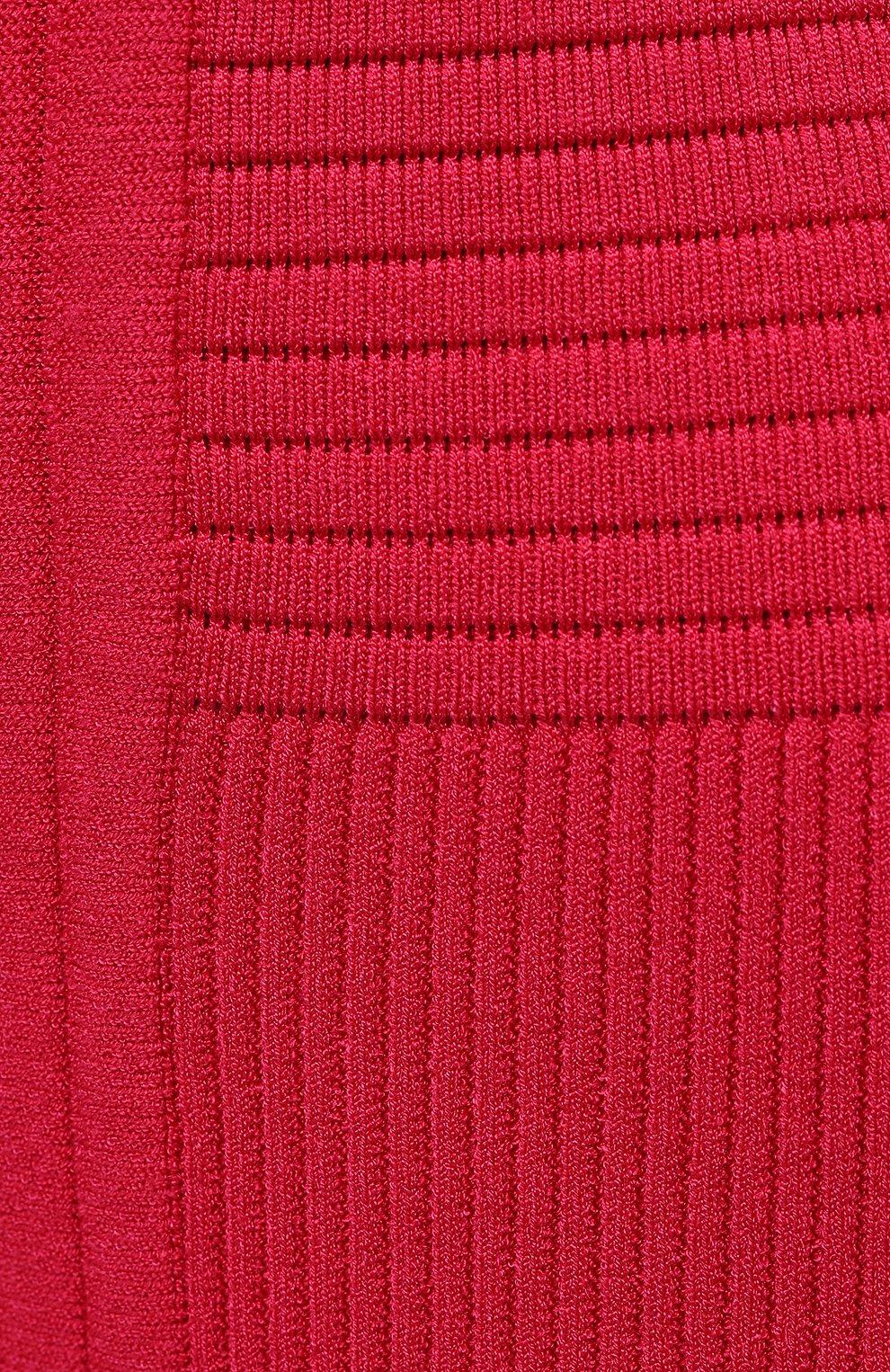Женская юбка из вискозы BALMAIN фуксия цвета, арт. VF0LB010/K211   Фото 5