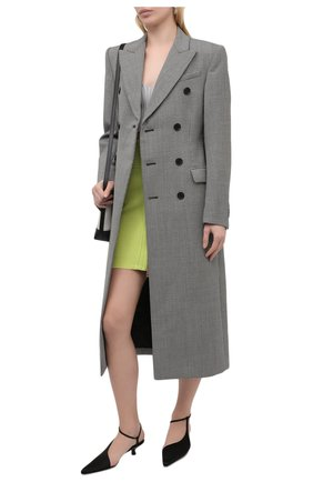 Женская юбка из вискозы BALMAIN салатового цвета, арт. VF0LB010/K211   Фото 2
