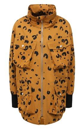 Женская хлопковая куртка KENZO коричневого цвета, арт. FB520U0749PB   Фото 1 (Стили: Спорт-шик; Материал внешний: Хлопок; Кросс-КТ: Куртка; Рукава: Длинные; Длина (верхняя одежда): До середины бедра)