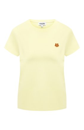 Женская хлопковая футболка KENZO желтого цвета, арт. FB52TS8434SA | Фото 1