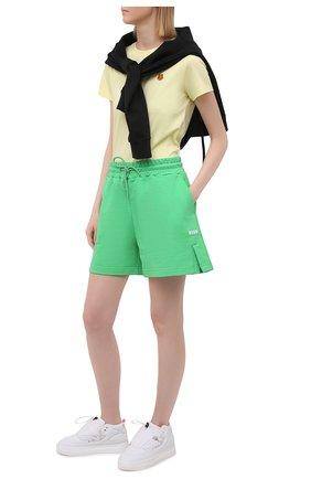 Женская хлопковая футболка KENZO желтого цвета, арт. FB52TS8434SA | Фото 2