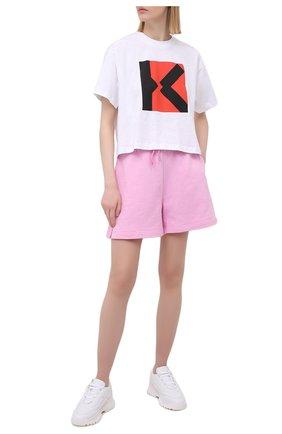 Женская хлопковая футболка kenzo sport KENZO белого цвета, арт. FB52TS6904SJ | Фото 2