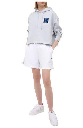 Женский хлопковое худи kenzo sport KENZO светло-серого цвета, арт. FB52SW6264MS | Фото 2