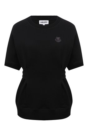 Женский хлопковый свитшот KENZO черного цвета, арт. FB52SW6154ML   Фото 1