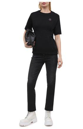 Женский хлопковый свитшот KENZO черного цвета, арт. FB52SW6154ML | Фото 2 (Стили: Спорт-шик; Материал внешний: Хлопок; Длина (для топов): Стандартные; Женское Кросс-КТ: Свитшот-одежда; Рукава: Короткие)