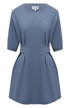 Женское хлопковое платье KENZO голубого цвета, арт. FB52R07634ML   Фото 1