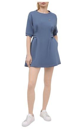 Женское хлопковое платье KENZO голубого цвета, арт. FB52R07634ML   Фото 2
