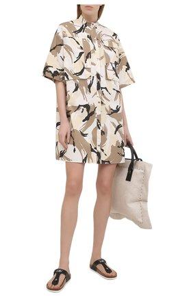 Женское хлопковое платье KENZO разноцветного цвета, арт. FB52R00281PC   Фото 2